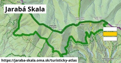 ikona Jarabá Skala: 2,2km trás turisticky-atlas  jaraba-skala