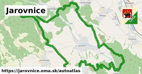 ikona Mapa autoatlas  jarovnice
