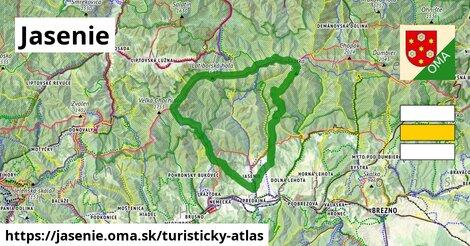 ikona Turistická mapa turisticky-atlas  jasenie
