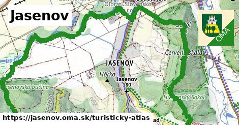 ikona Turistická mapa turisticky-atlas  jasenov