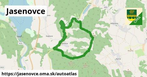 ikona Mapa autoatlas  jasenovce