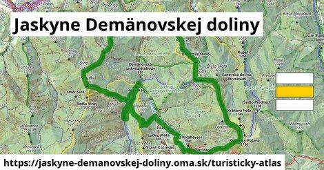 ikona Jaskyne Demänovskej doliny: 21km trás turisticky-atlas  jaskyne-demanovskej-doliny
