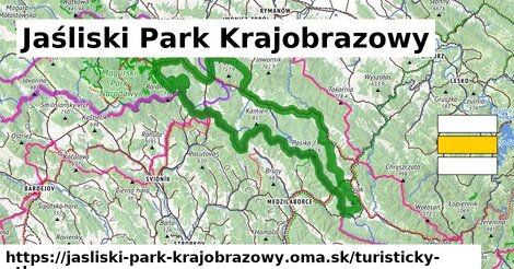 ikona Turistická mapa turisticky-atlas  jasliski-park-krajobrazowy