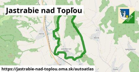 ikona Mapa autoatlas  jastrabie-nad-toplou