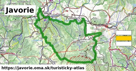 ikona Turistická mapa turisticky-atlas  javorie