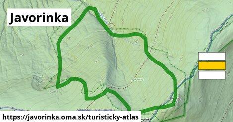 ikona Javorinka: 340m trás turisticky-atlas  javorinka