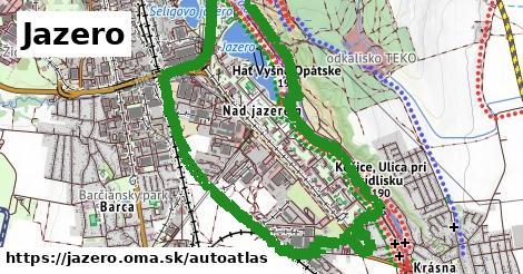 ikona Mapa autoatlas  jazero