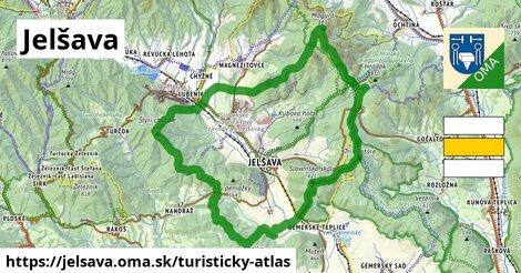 ikona Jelšava: 14,1km trás turisticky-atlas  jelsava