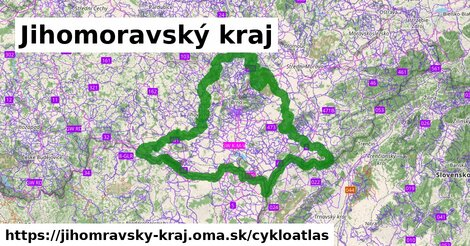 ikona Jihomoravský kraj: 3863km trás cykloatlas  jihomravsky-kraj