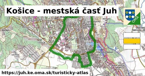 ikona Turistická mapa turisticky-atlas  juh.ke