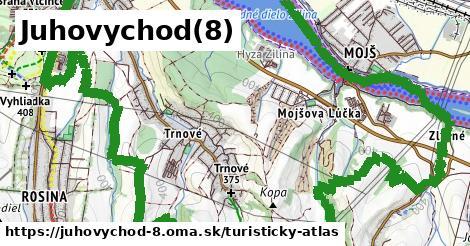 ikona Turistická mapa turisticky-atlas  juhovychod-8