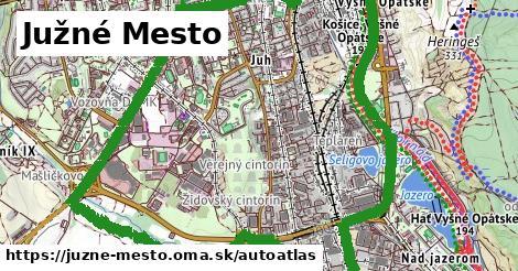 ikona Mapa autoatlas  juzne-mesto