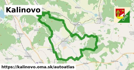 ikona Mapa autoatlas  kalinovo