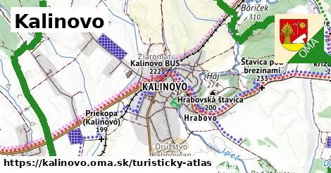 ikona Turistická mapa turisticky-atlas  kalinovo