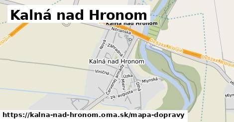 ikona Kalná nad Hronom: 3,9km trás mapa-dopravy v kalna-nad-hronom