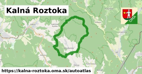 ikona Mapa autoatlas  kalna-roztoka