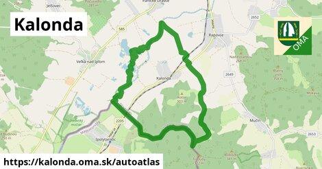 ikona Mapa autoatlas  kalonda