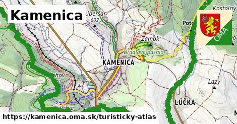 ikona Turistická mapa turisticky-atlas  kamenica