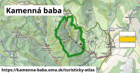 ikona Turistická mapa turisticky-atlas  kamenna-baba
