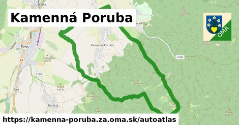 ikona Mapa autoatlas  kamenna-poruba.za