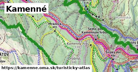 ikona Kamenné: 51km trás turisticky-atlas  kamenne