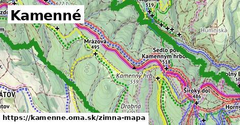 ikona Kamenné: 11,7km trás zimna-mapa  kamenne