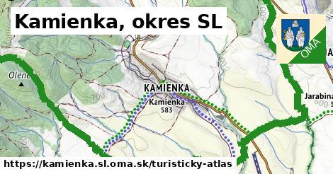 ikona Turistická mapa turisticky-atlas  kamienka.sl