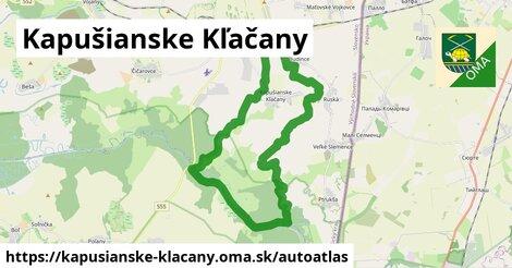 ikona Mapa autoatlas  kapusianske-klacany