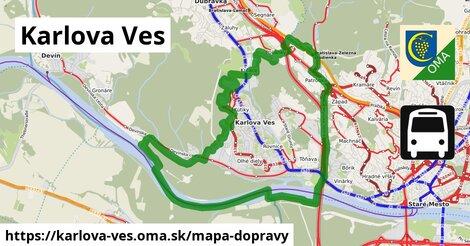 ikona Karlova Ves: 217km trás mapa-dopravy  karlova-ves