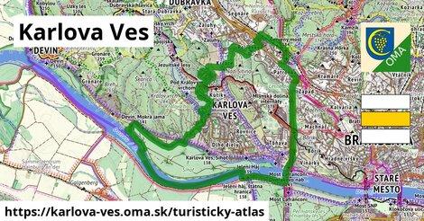 ikona Turistická mapa turisticky-atlas  karlova-ves