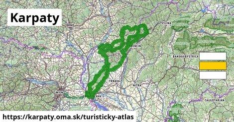 ikona Turistická mapa turisticky-atlas  karpaty