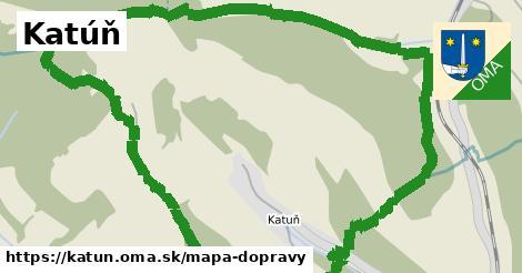 ikona Katúň: 0m trás mapa-dopravy v katun