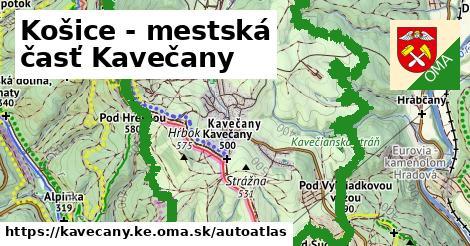 ikona Mapa autoatlas  kavecany.ke