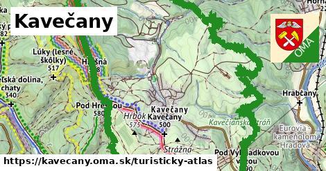 ikona Turistická mapa turisticky-atlas  kavecany