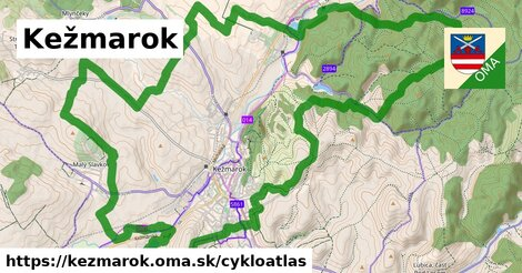 ikona Kežmarok: 29km trás cykloatlas  kezmarok