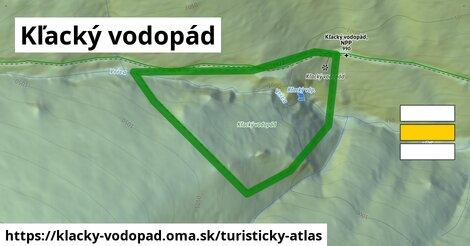 ikona Turistická mapa turisticky-atlas  klacky-vodopad