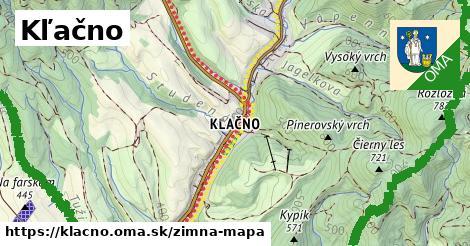 ikona Kľačno: 14,8km trás zimna-mapa  klacno