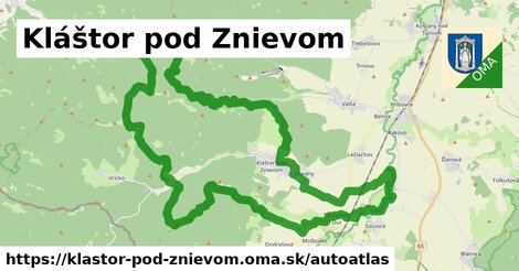 ikona Mapa autoatlas  klastor-pod-znievom