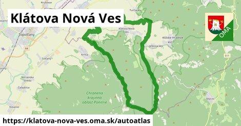 ikona Mapa autoatlas  klatova-nova-ves