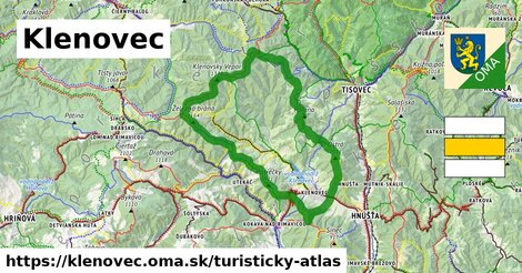 ikona Klenovec: 61km trás turisticky-atlas  klenovec