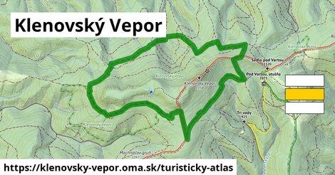 ikona Turistická mapa turisticky-atlas  klenovsky-vepor