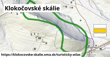 ikona Klokočovské skálie: 523m trás turisticky-atlas  klokocovske-skalie