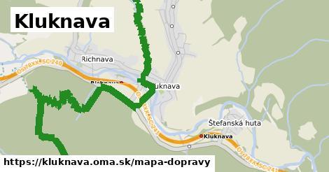 ikona Kluknava: 8,5km trás mapa-dopravy  kluknava
