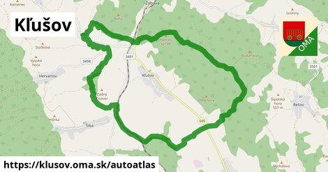 ikona Mapa autoatlas  klusov