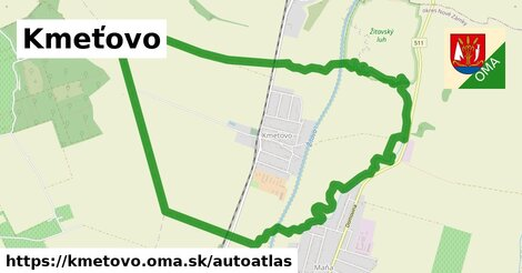 ikona Mapa autoatlas  kmetovo
