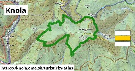 ikona Turistická mapa turisticky-atlas  knola