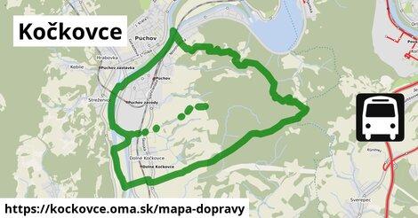 ikona Kočkovce: 17km trás mapa-dopravy  kockovce