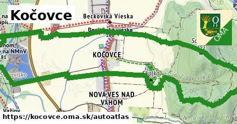 ikona Mapa autoatlas  kocovce