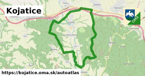 ikona Mapa autoatlas  kojatice