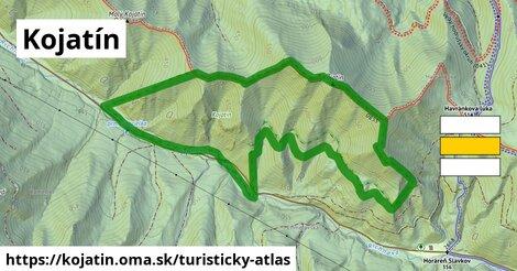 ikona Kojatín: 512m trás turisticky-atlas  kojatin
